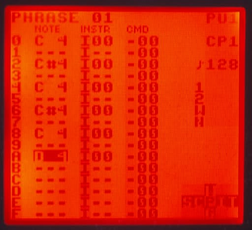 Red inverted backlit DMG screen runing inverted palette LSDj