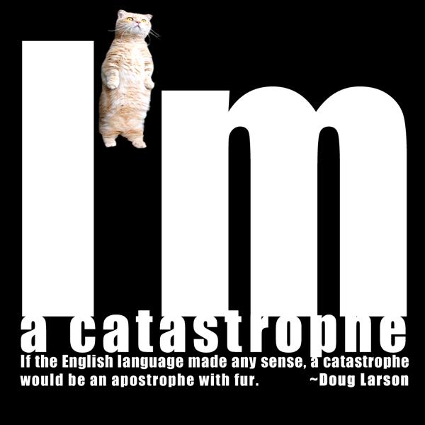 I'm a catastrophe